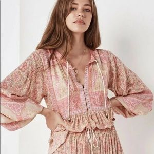 SPELL & THE GYPSY  Poinciana Blouse pink M NWT